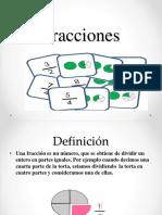 Contenido Fracciones Fracciones sexto básico