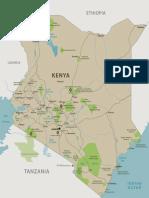 THE SAFARI COLLECTION - KENYA MAP