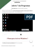 Activar Windows 7 ≫ SIN PROGRAMAS