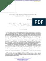 BICAMERALISMO EN LA CONSTITUCIÓN MEXICANA __Y EN PERSPECTIVA COMPARADA