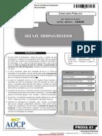 NM -2013 Agente Administrativo - Pref. Vitória da ConquistaBA