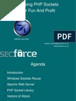 OWASP Abusing PHP Sockets