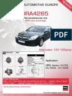 Product data DRA4265