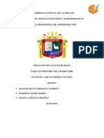 SELECECCION DE TALENTO HUMANO diciembre curriculum