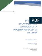 Evaluacion socioeconomica y ambiental de la insdustria petrolera en Colombia