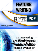Feature Writing Lec