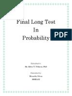 Final Long Test