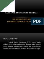 HASIL PKL PUSKESMAS TEMPEL I