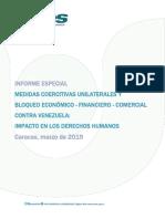 INFORME MEDIDAS UNILATERALES COERCITIVAS CONTRA VENEZUELA. 2019