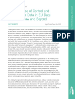 The Discourse of Control and Consent over Data in EU Data Protection Law and Beyond
