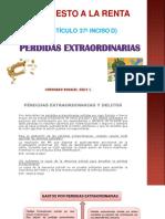 PERDIDAS EXTRAORDINARIAS