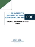 Reglamento Jaramillo Galarza Franco Tulio  21-11-2019
