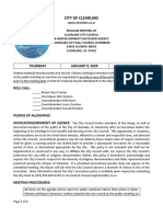 010920 Clearlake City Council agenda packet