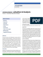 Research Starters - Investment Valuation _ Analysis