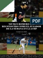 Leopoldo Lares Sultán - Niuman Romero Fue Reconocido Como El Jugador de La Semana en LaLVBP