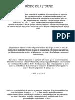 PERÍODO DE RETORNO