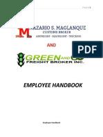 Employee Handbook nsm gng