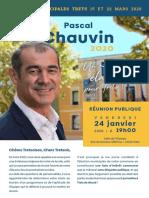 MUNICIPALES 2020 Tract Pascalchauvin Janvier2020