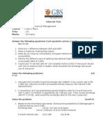 IFM Test Paper