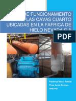 MANUAL DE FUNCIONAMIENTO DE LAS CAVAS REFRIGERADORAS DE LA FÁBRICA DE HIELO NEVADA C.A