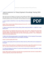 PIPING GUIDE_ Typical Questions For Piping Engineer's Knowledge Testing (With Answers)