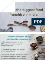Keyword - Biggest Food Franchise in India
