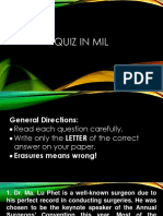 MIL REVIEW QUIZ