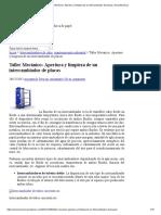 Taller Mecánico_ Apertura y limpieza de un intercambiador de placas _ Area Mecánica