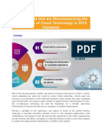 Top 3 Trends That Are Revolutionizing the Next Phase of Cloud Technology in 2019