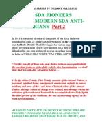 Part 2- SDA Pioneers Debunk Modern SDA Anti-Trinitarians