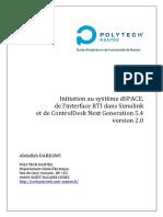 Initiation au système dSPACE, de l'interface RTI dans Simulink et de ControlDesk Next Generation 5.4 version 2.0.pdf