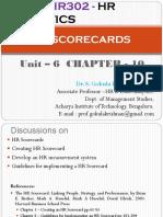 HR Analytics - Unit 6 Chapter - 10 - HR Scorecards