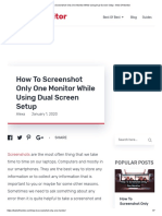 How to Screenshot Only One Monitor While Using Dual Screen Setup - Best of Monitor