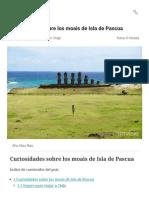 ▷MOAIS de Isla de Pascua_ CURIOSIDADES PDF