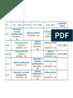 Horario 2019 - II EPIE V semestre
