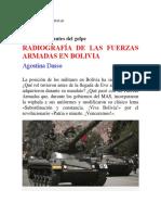 RADIOGRAFÍA DE LAS FUERZAS ARMADAS EN BOLIVIA