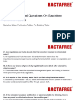 Frequently Asked Questions on Bactafree Chlorine Tablets