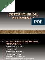 DISTORSIONES DEL PENSAMIENTO