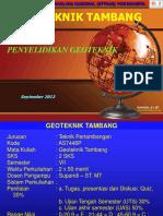 04_Geoteknik Tambang - Supandi - Penyelidikan Lapangan.ppt