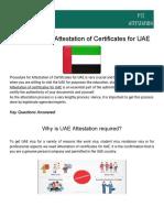Procedure for Attestation of Certificates for UAE