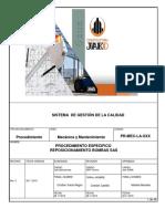 PR-MEC-LA-XXX REPOSICIONAMIENTO DE BOMBAS SAS, ALBEMARLE, 2019
