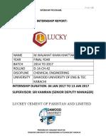 lucky cement internship report