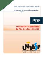 Calendário Acadêmico da Pós-graduação 2019