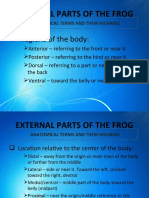 External Parts of the Frog (1)