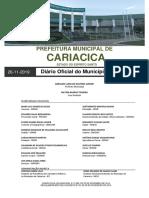 DIÁRIO OFICIAL MUNICIPAL 26-11-2019 - EDIÇÃO Nº 1211 - MLCOELHO(assinado)