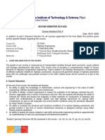 CE F244-Highway Engineering - 2019-2020-2nd semester-Handout with SLOs