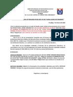 RESOLUCION DIRECTORAL DE TRASLADO