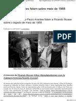 Schwarz e Arantes falam sobre maio de 1968 – Blog da Boitempo 2018