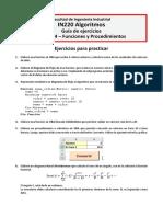 Guía de Ejercicios Unidad 4 - Funciones y Procedimientos (1)