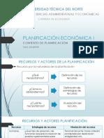 RECURSOS Y ACTORES DE PLANIFICACIÓN